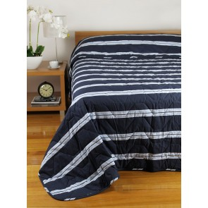 Hudson Stripe Bedspreads Navy