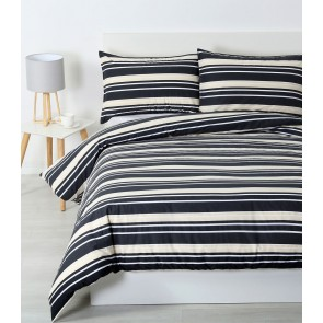 Brighton Quilt Cover Sets & Pillowcases - Charcoal