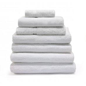 Border Towels Plain White