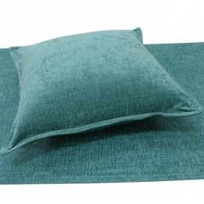 Parker Chenille Bed Runners & Cushions - Turquiose