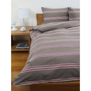 Hudson Stripe Quilt Cover Sets - Almond