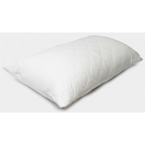 Heavenly Dreams Quilted Cotton Pillow Protector - Standard - with Zip Closure