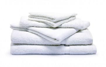 Commercial Plain Bath Towels - White