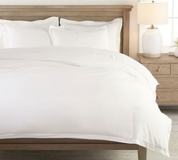 Crisp Tailored Quilt Covers - White
