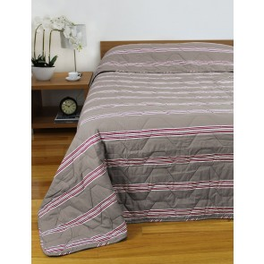 Hudson Stripe Bedspreads Almond
