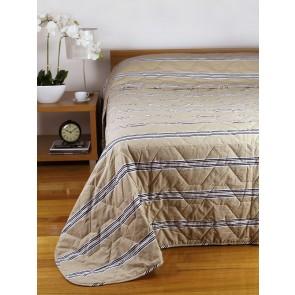Hudson Stripe Bedspreads Latte