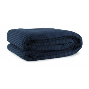 Cotton Waffle Blankets Navy