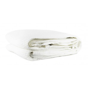Cotton Waffle Blankets White