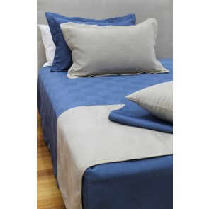 Haven Jacquard Bedspreads Denim