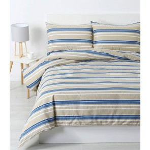 Brighton Quilt Cover Set & Pillowcases - Oatmeal