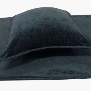 Parker Chenille Bed Runners & Cushions - Ink Blue Black
