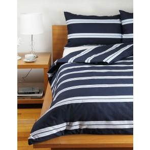 Hudson Stripe Quilt Cover Sets - Navy