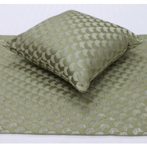 Regency Jacquard Bed Runners & Cushion – Sage