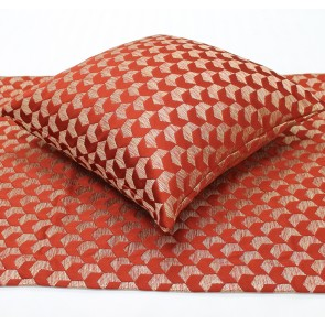 Regency Jacquard Bed Runners & Cushion – Russet