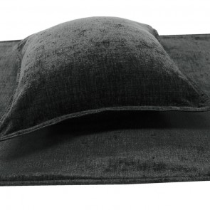 Parker Chenille Bed Runners & Cushions - Charcoal